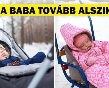 Miért engedik a hideg országokban élő szülők gyermekeiket a szabadban aludni