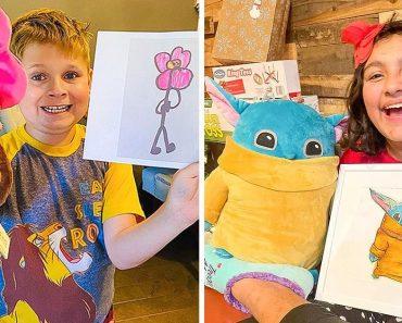 Egy vállalat a gyerekek rajzait olyan aranyos plüss játékokká alakítja, hogy te is zsírkrétát akarsz majd ragadni és elkészíteni a sajátodat