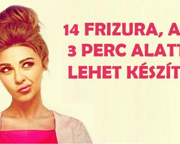 14 frizura, amelyet 3 perc alatt el lehet készíteni