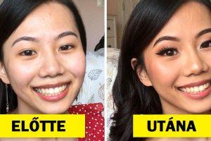 15 előtte és utána kép, amelyek bizonyítják, hogy a jó smink csodákra képes
