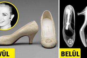 Grace Kelly esküvői cipőjének röntgenfelvétele egy kevéssé ismert tényt fed fel a monacói hercegnéről
