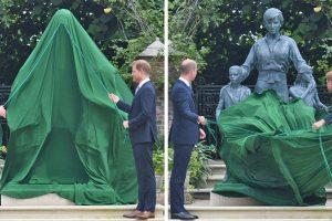 Vilmos és Harry hercegek egy megható pillanatban egyesülnek, hogy leleplezzék a néhai édesanyjuk, Diana hercegnő tiszteletére emelt szobrot.