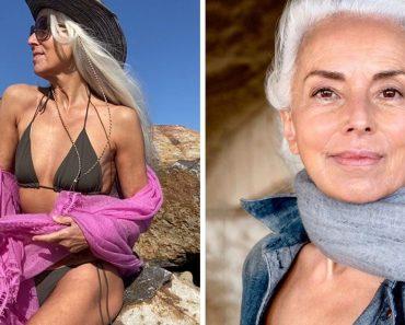 Egy 65 éves hölgy megmutatja természetes szépségét és elmagyarázza, hogyan lehet valaki modell az ő korában