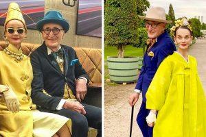 Egy idős pár olyan elegánsan öltözködik, hogy a ruháik bármelyik kifutót túlszárnyalják